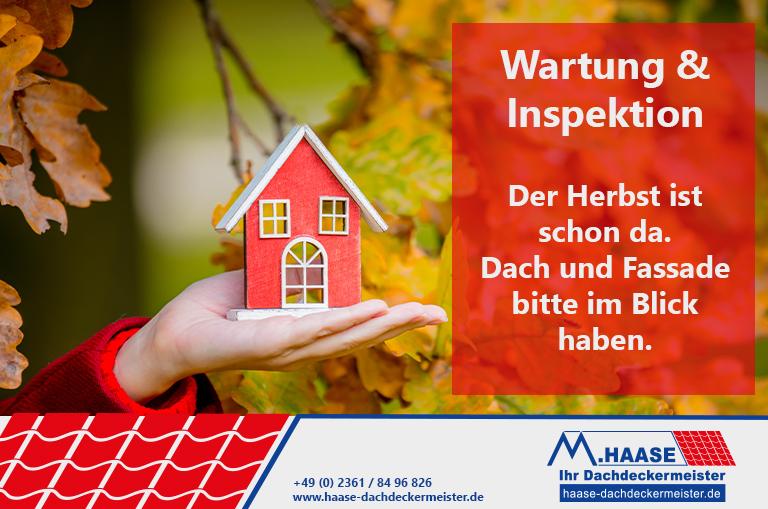 Foto Dach warten im Herbst und sturmfest machen mit dem Dachdeckermeisterbetrieb Haase in Recklinghausen.