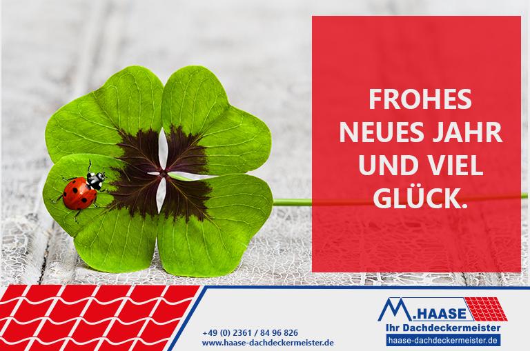 Frohes neues Jahr vom Dachdeckermeister Haase aus Recklinghausen