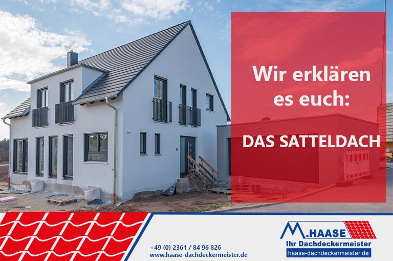 Bild zu Dacharten vorgestellt das Satteldach von Haase Dachdeckermeister aus Recklinghausen